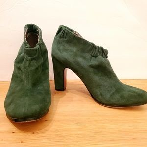 Sam Edelman Green Leather Heeled Booties